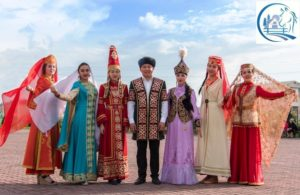 Kazakhs living in the Astrakhan region